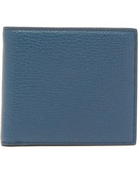 Smythson Grained-leather Bifold Wallet - Blue