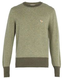 Maison Kitsuné - Crew-neck Lambswool Sweater - Lyst