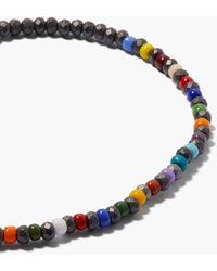 Luis Morais Malachite, Hematite & 14kt Gold Beaded Bracelet - Multicolour