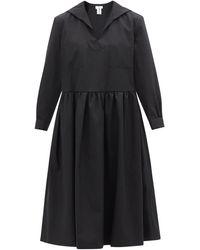 Comme des Garçons Comme Des Garçons Girl セーラーカラー ツイルドレス - ブラック