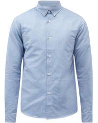 A.P.C. ポイントカラー コットンシャツ - ブルー