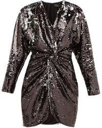 Dundas スパンコール ジャージーミニドレス - ブラック