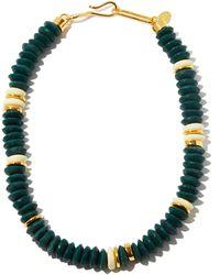 Lizzie Fortunato Collier en plaqué or et perles de verre Laguna - Vert
