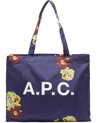 A.P.C. - ディアン キャンバストートバッグ - Lyst
