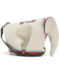 Loewe - Elephant Leather Cross Body Bag - Lyst