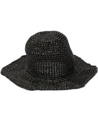 Reinhard Plank Star Straw Bucket Hat - Black
