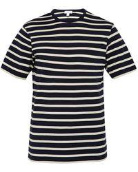 Sunspel - Breton-stripe Cotton-jersey T-shirt - Lyst