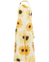 Jacquemus Tablier Sunflower-print Open-back Apron Dress - Yellow