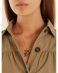Marc Alary Diamond, Pearl & White-gold Necklace - Brown