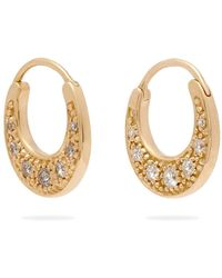 Jacquie Aiche - Diamond & Gold Hoop Earrings - Lyst