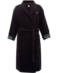 Paul Smith - Zebra Terry Cloth Cotton Towel Robe - Lyst