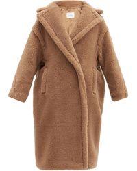 Max Mara Tan Alpaca Blend Oversized Teddy Coat S - Brown