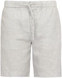 Frescobol Carioca - Drawstring Waist Linen Blend Shorts - Lyst