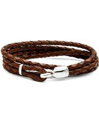 Miansai - Trice Braided Leather Bracelet - Lyst