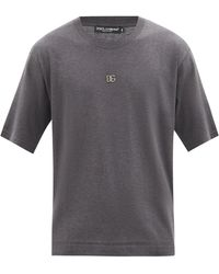 Dolce & Gabbana - Dgロゴ コットンtシャツ - Lyst