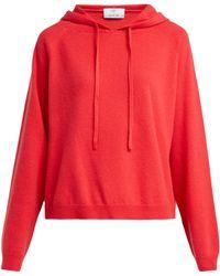 Allude Sweat-shirt en cachemire à capuche - Rouge