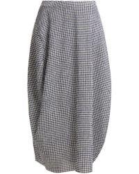 Jil Sander - Low Rise Gingham Midi Skirt - Lyst