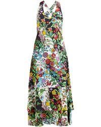 LaDoubleJ Molly Girl Holly Hock-print Maxi Dress - Multicolor
