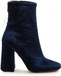 Ellery - Esmond Velvet Ankle Boots - Lyst