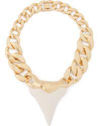 Zimmermann Wavelength Surf Gold-plated Shark Tooth Necklace - Metallic