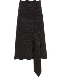1 MONCLER JW ANDERSON Asymmetric Down Quilted Shell Skirt - Black