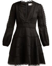 Zimmermann - Robe en lin Heathers - Lyst