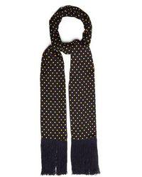 JOSEPH - Polka-dot Print Silk Scarf - Lyst