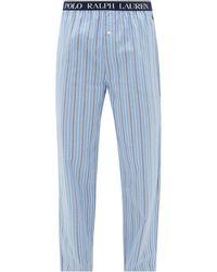 Polo Ralph Lauren Pantalon de pyjama en coton rayé Paul - Bleu