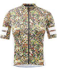Café du Cycliste Floriane Floral-print Mesh Cycling Jersey - Multicolour