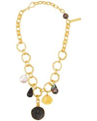Lizzie Fortunato Byzantine Gold-plated Charm Necklace - Metallic
