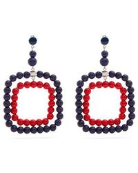 Marni - Beaded Square-hoop Earrings - Lyst