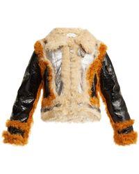 Marques'Almeida - Contrast Trim Shearling Jacket - Lyst