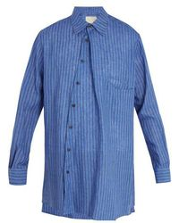 By Walid - Issa Striped Linen Shirt - Lyst