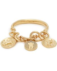 Chloé - Emoji Engraved-medallion Brass Bracelet - Lyst