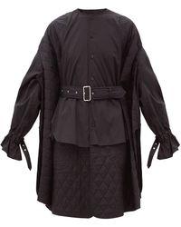 Noir Kei Ninomiya - キルティングパネル コットンシャツドレス - Lyst