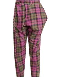 Vivienne Westwood Anglomania - Tartan Cotton Blend Trousers - Lyst