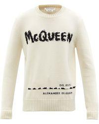 Alexander McQueen グラフィティロゴ コットンセーター - マルチカラー