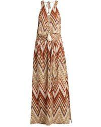 Melissa Odabash - - Jacquie Zigzag Print Maxi Dress - Womens - Brown Multi - Lyst