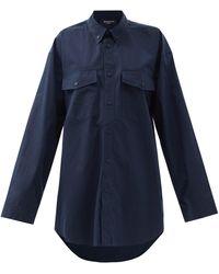 Balenciaga - Oversized Cotton-poplin Shirt - Lyst