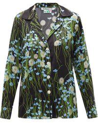 BERNADETTE Floral-print Silk-blend Satin Pyjamas - Black