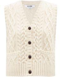 RE/DONE Cardigan sans manches en laine 50s - Neutre