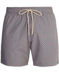 Faherty Brand - Beacon Pyramid Print Swim Shorts - Lyst