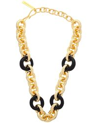 Lizzie Fortunato Zodiac Collar Chain Necklace - Metallic