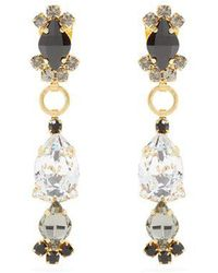 Marni - Crystal-embellished Drop Earrings - Lyst
