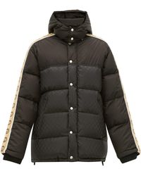 Gucci Logo Stripe Down-filled Jacket - Black