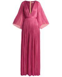 Maria Lucia Hohan - Lur Deep V-neck Silk-tulle Gown - Lyst