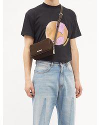 Jacquemus Le Baneto Leather-trim Canvas Cross-body Bag - Multicolour