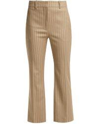 Altuzarra Adler Wool Blend Kick Flare Pants - Natural