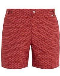 Danward - Palma Square-print Swim Shorts - Lyst