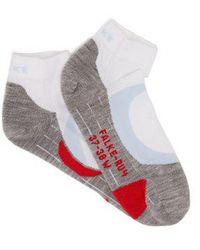 Falke - - Ru4 Cushioned Running Socks - Womens - White Multi - Lyst